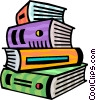 Stack of Books Vector Clip Art picture