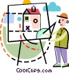Vector Clipart picture  of a painters