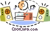 Vector Clipart graphic  of a Mini Systems