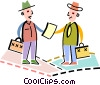 Vector Clipart graphic  of a Businessmen agreeing on a