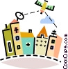 Vector Clip Art image  of a Broadcasting and Communications