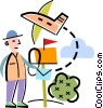 Airmail concept Vector Clipart picture