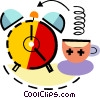 Alarm Clock with cup of coffee Vector Clip Art picture