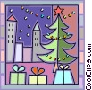 Vector Clip Art image  of a Christmas Trees