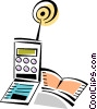 Cellular Wireless and Cordless Phones Vector Clip Art graphic
