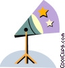 Telescope looking at stars Vector Clip Art picture