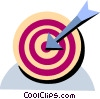 Vector Clip Art image  of a Target and arrow
