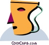 Vector Clip Art image  of a Drama mask