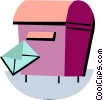 Mailbox and letter Vector Clip Art picture
