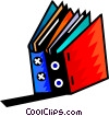 Vector Clip Art image  of a Two books