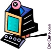 Computer with camera Vector Clipart picture