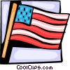 Vector Clip Art image  of an American flag