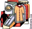 Dry Cleaner pressing pants Vector Clip Art image