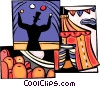 Circus performer juggling Vector Clipart picture