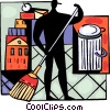 Vector Clip Art image  of a Cleaners