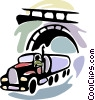 Transport oil tanker Vector Clip Art graphic