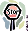 Vector Clipart graphic  of a Stop sign