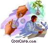 Vector Clipart graphic  of a Biology