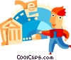 Vector Clip Art image  of a Online banking concept