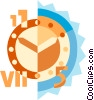 Vector Clip Art graphic  of a Concepts of time