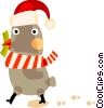 Vector Clipart graphic  of a Santa's helper