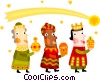 Three wise men Vector Clipart picture
