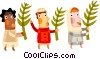 Three wise men Vector Clip Art picture