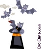 Hat full of bats Vector Clipart image