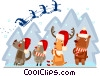 Santa's helpers Vector Clipart picture
