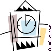 Vector Clipart graphic  of a Grandfather with clock