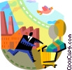 Vector Clipart image  of a Investment and Stock Market
