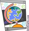 Colorful globe Vector Clipart picture