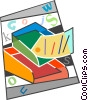 Vector Clip Art graphic  of a In-out box