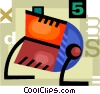 Colorful Rolodex Vector Clip Art graphic
