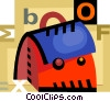 Vector Clip Art image  of a Schoolbags and Knapsacks