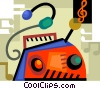 Vector Clipart illustration  of a Portable Cassette Players