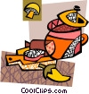 Vector Clip Art image  of a Soup pot with pepper and