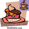 Vector Clip Art graphic  of a Cake with whipped cream