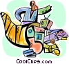 Vector Clip Art image  of a Woman with cornucopia of
