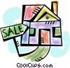 House for sale Vector Clipart image