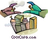 Businessmen Soaring to New Heights Vector Clipart picture
