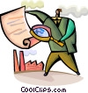 Vector Clip Art graphic  of a Business Contracts