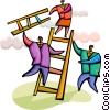 Climbing Ladders Vector Clipart image