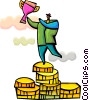 Financial Success Vector Clipart illustration