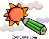 The Sun with pencil Vector Clipart illustration