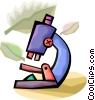 Vector Clipart graphic  of a Microscopes
