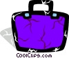 Vector Clip Art image  of a Colorful briefcase