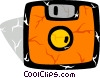 Colorful diskette Vector Clip Art image