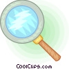Vector Clipart image  of a Magnifying glass