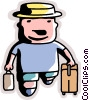 Vector Clipart illustration  of a Man going on vacation